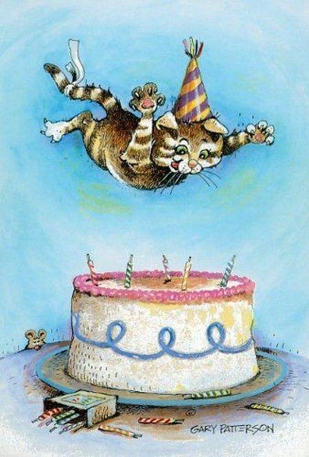День рождения кот открытка, картинки новинки 2015
