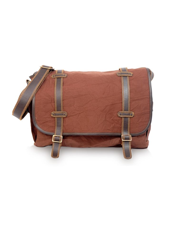 Yo Parinacrush Brown Subtle yet built for adventure messenger bag by Baggit.  www.baggit.com