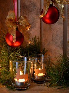 Szklanka   naklejka = świecznik