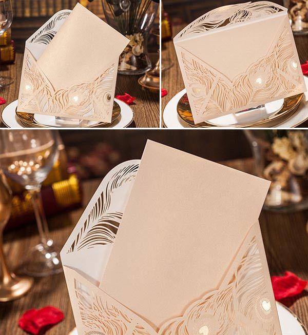 Vintage golden Hochzeit Einladungskarten Klappkarten Elegante Einladungskarten Hochzeit 2014 / 2015 bei optimalkarten.de