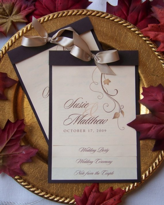 FALL WEDDING PROGRAMS  The Step Numerous by PaperDreamsDesign, $1.99