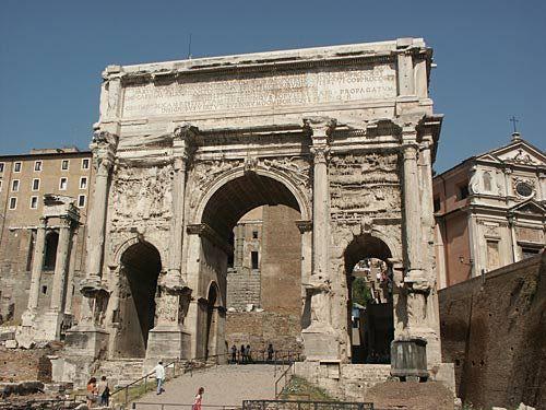 Rome Picture: The Arch of Septimius Severus.