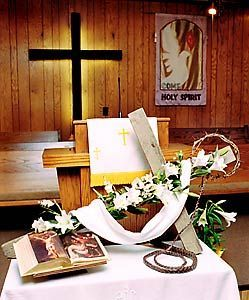 Easter Cross Altar Table    Google Search  A poignant visual display