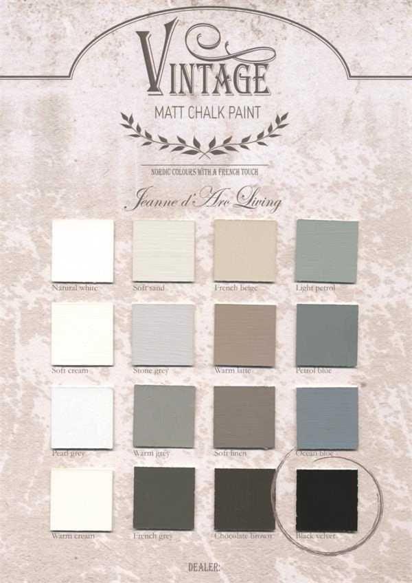 16 beautiful colours.  Krijtverf van Jeanne d'arc Living binnenkort te verkrijgen bij  Brocante bij Belinda.  700 ml euro 23,95