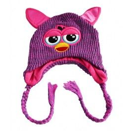 Furby Knitted Beanie/Hat Purple $22.99