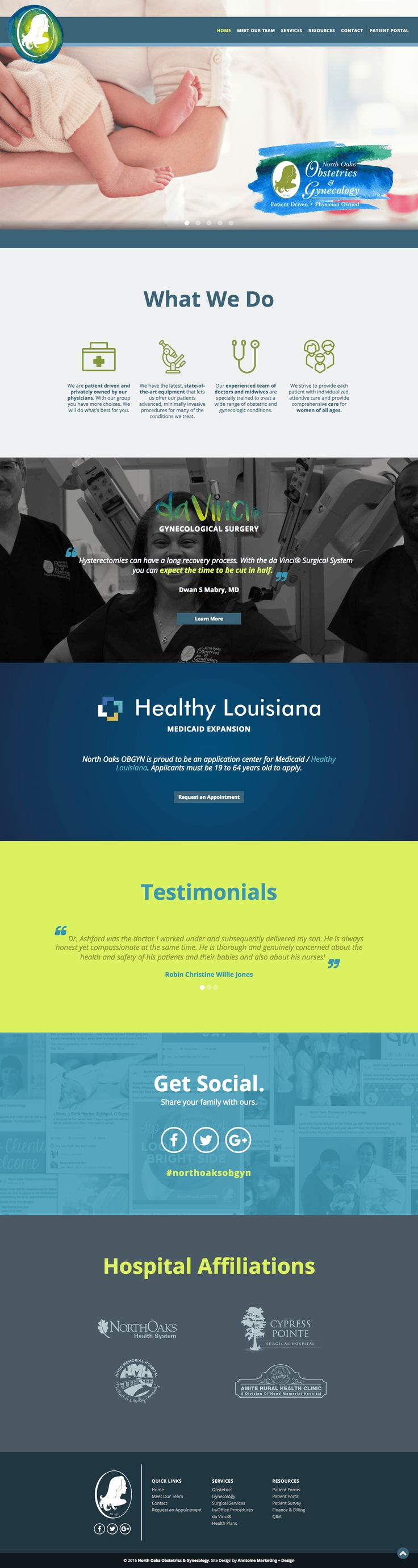 Web Design | Website Design | Responsive Website | Responsive Website Design | Fitness Website | Fitness Design | Custom Website Design | Custom Website | Healthy School Food Collaborative Website | Branded Website Design | Website Inspiration | Website Ideas | Web Design Ideas | Parallax Scrolling | OBGYN | Health | North Oaks | Women Health | http://northoaksobgyn.com/
