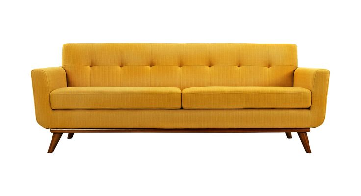 Mid Century Modern Mustard Sofa cutout Cut Outs Image