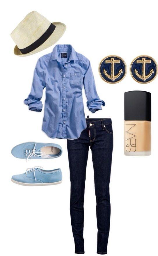 Hatt - check, bukse - check, skjorte - check,Blue Toms -check. http://crochettoms.com/1-toms-shoes-blue-canvas-women-s-classics.html