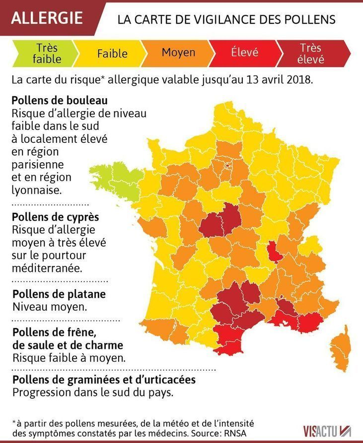 Epingle Par Francois Garreau Sur Rse Le Pollen Carte Allergie
