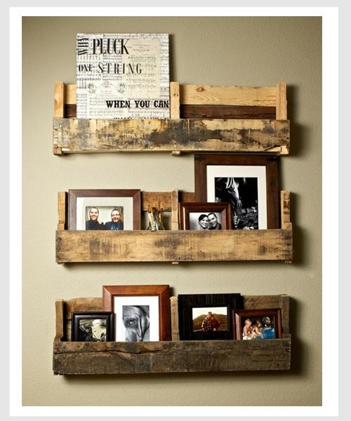 wooden pallet DIY shelves