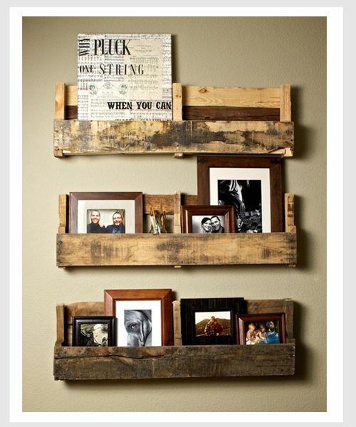wooden pallet DIY shelves