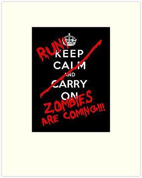 keep calm zombie