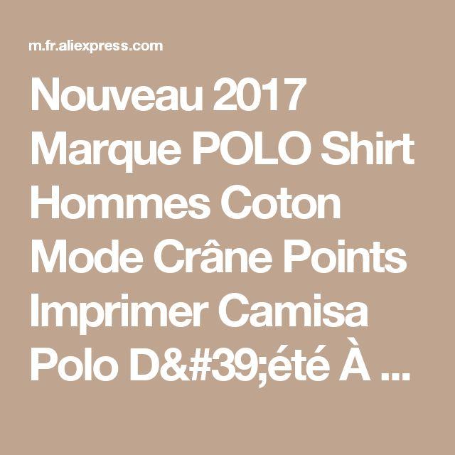Nouveau 2017 Marque POLO Shirt Hommes Coton Mode Crâne Points Imprimer Camisa Polo D'été À manches Courtes Chemises Occasionnelles MT437 de la boutique en ligne | Aliexpress mobile