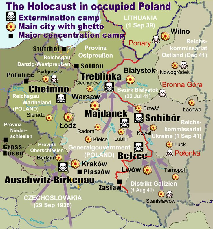 144 best history images on pinterest world war two wwii and germany map of the holocaust in poland during the second world war 1939 1945 gumiabroncs Image collections