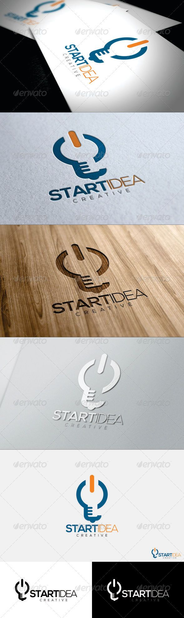 Start Ideas Logo #GraphicRiver Easy To Edit Layered CDR, AI, EPS include Scale Logo To Any Size