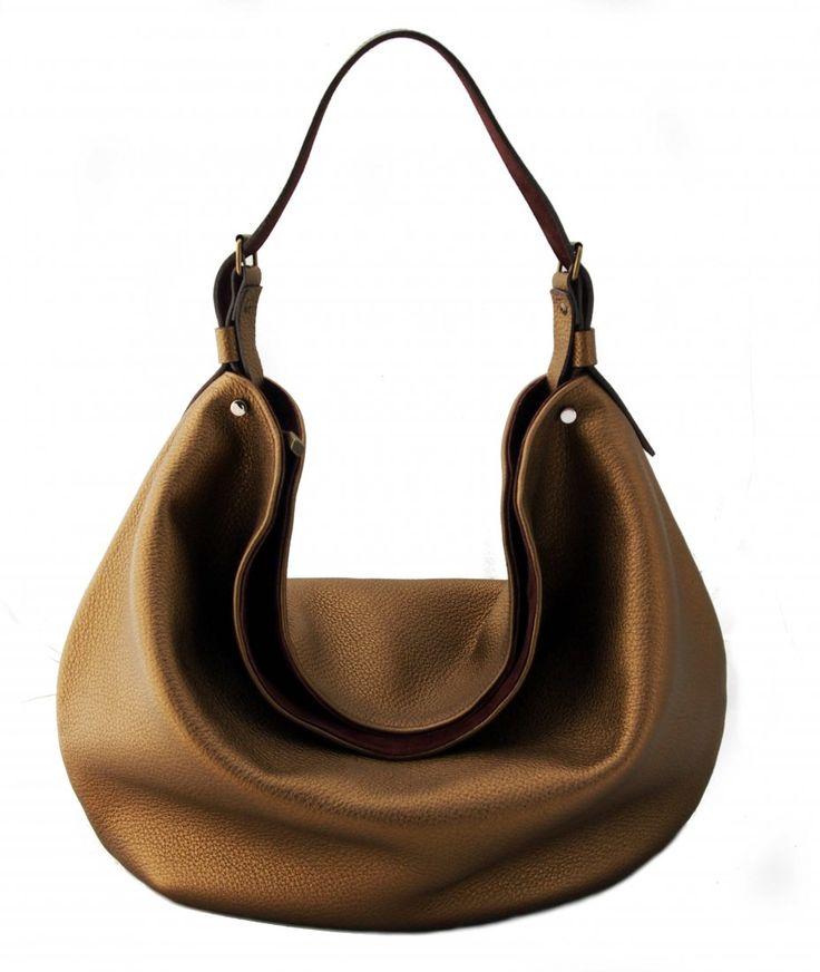 Bernarda duży worek ze skóry naturalnej (sprzedawca: Zuza Kilanowicz), do kupienia w DecoBazaar.com