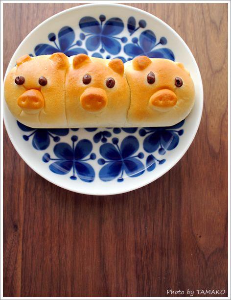 three little piglet bread - Petits pains des 3 petits cochons