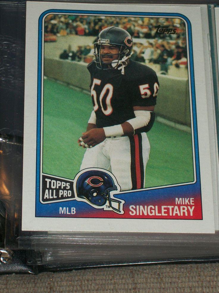 "mike singletary football card   Mike Singletary 1988 ""Topps All-Pro"" football card"