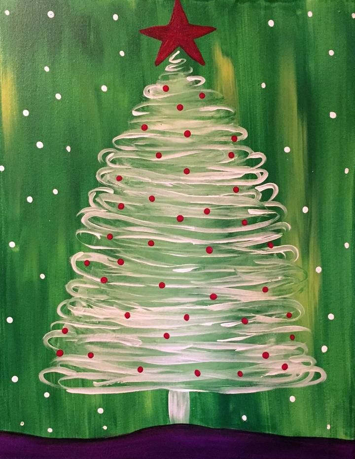 Tannenbaum Outdoor.Winter All About Christmas Christmas Paintings Christmas Canvas