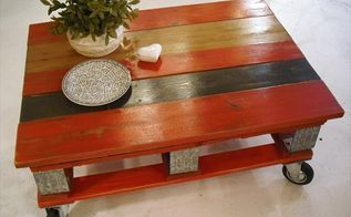 http www 99pallets com pallet tables red pallet coffee table with in, diy, how to, painted furniture, pallet, repurposing upcycling
