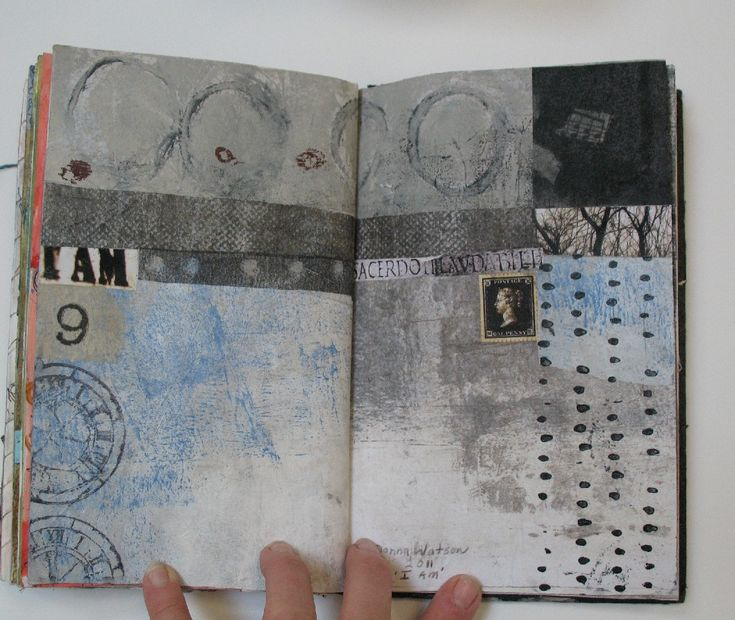 Collage art of Laura Lein-Svencner: My Make Your Mark Journal has finally come home