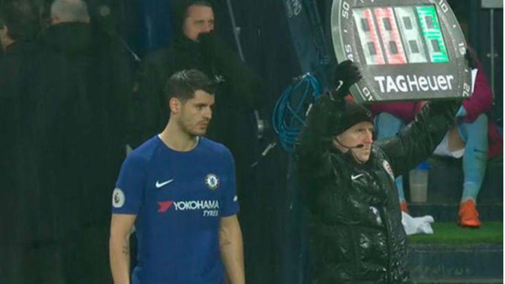 Conte hace un feo a Morata: le sacó en el 89 del City  Chelsea