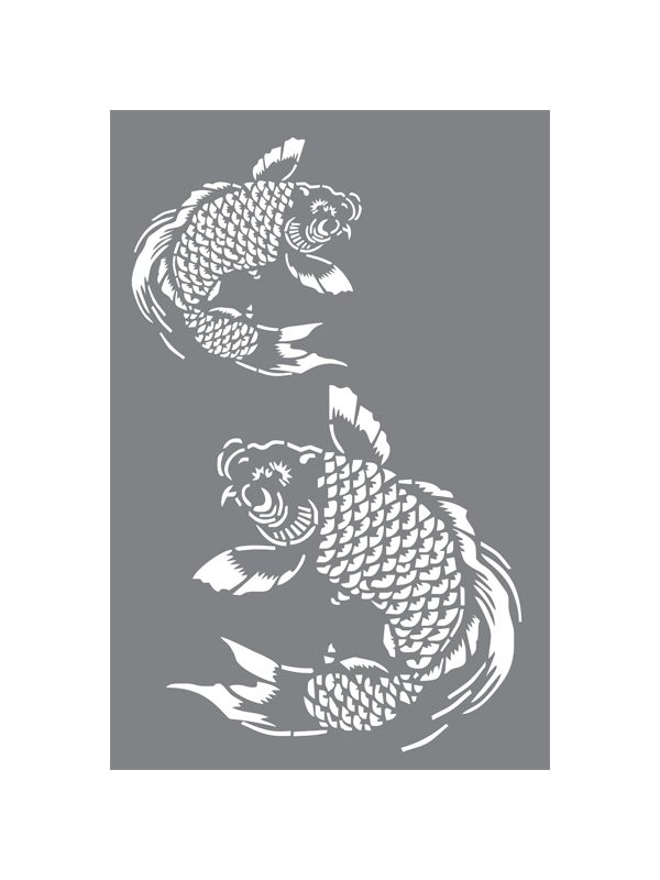 23 best images about asian lantern on pinterest for Koi fish stencil