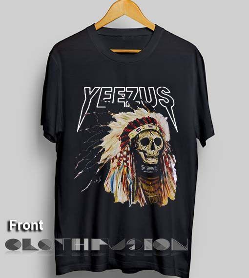Unisex Premium Yeezus T shirt Logo Black Design Clothfusion