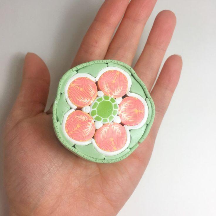 [폴리머클레이] 주황색 꽃 케인 : 네이버 블로그  Polymer clay flower cane