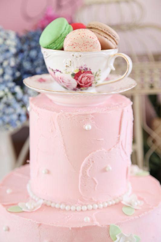 Pastels And All Things Vintage The Theme Of This Kitchen Tea Party Dessert