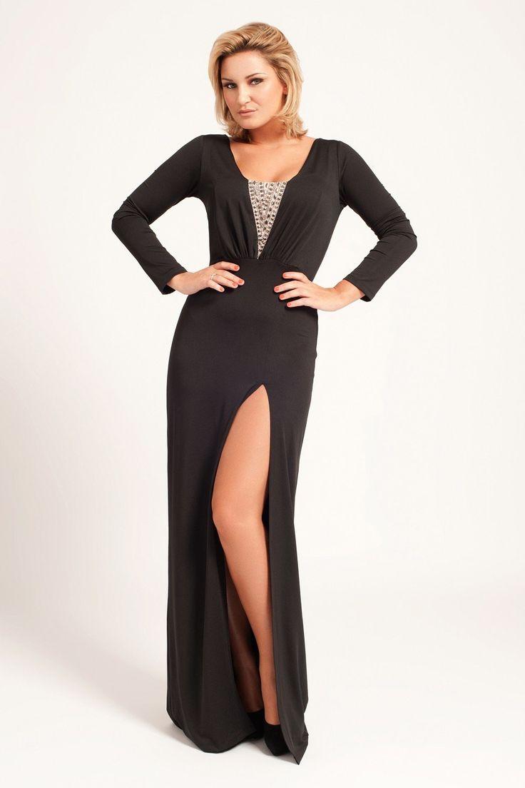 16 besten Long Black Dress Bilder auf Pinterest | Lange schwarze ...