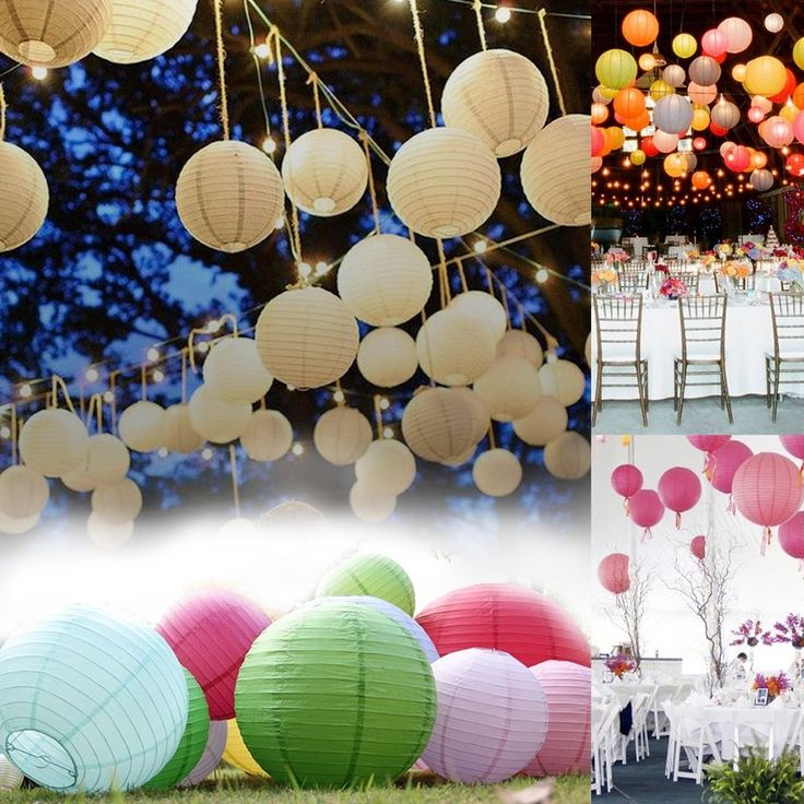 """6"""" 8"""" 10"""" 12"""" 14 16"""" 18"""" Wedding Party Paper Lanterns Decoration Holiday Decors #unbranded #Asian"""