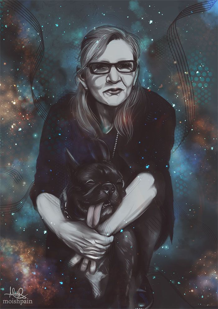 Artist's Pay Tribute to Carrie Fisher. Rest In Peace, Carrie Fisher. May The Force Be With You