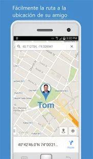 Localizador por número móvil: miniatura de captura de pantalla
