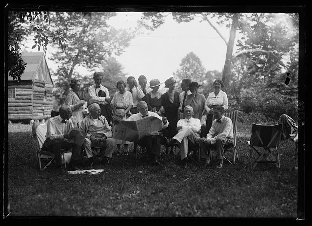 """Rare Vintage Photographs of President Warren G. Harding Auto-Camping With the """"Vagabonds"""" in 1921"""