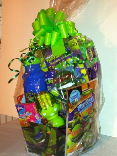 53 best easter basket ideas images on pinterest easter baskets tmnt teenage mutant ninja turtles easter basket arranged filled candy toys nwt negle Image collections