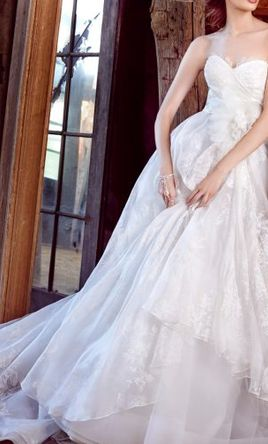 STUNNING DRESS!!!  Lazaro 3552: buy this dress for a fraction of the salon price on PreOwnedWeddingDresses.com
