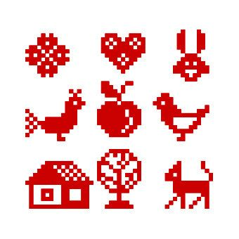 Tiny cross stitch patterns  Set of 9  Instant by galabornpatterns, $4.20