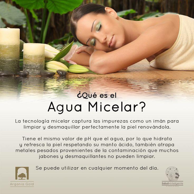 ¿Cómo funciona y qué es el Agua Micelar? Agua Micelar de Argania Gold® con Aceite de Argán orgánico y certificado + Extractos Herbales Desmaquilla, limpia, hidrata y suaviza tu piel.