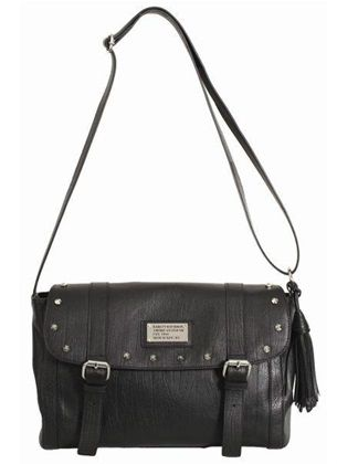 Harley-Davidson Women's All Bark Doctor Bag, Black Leather Lined. AB7716L-BLK