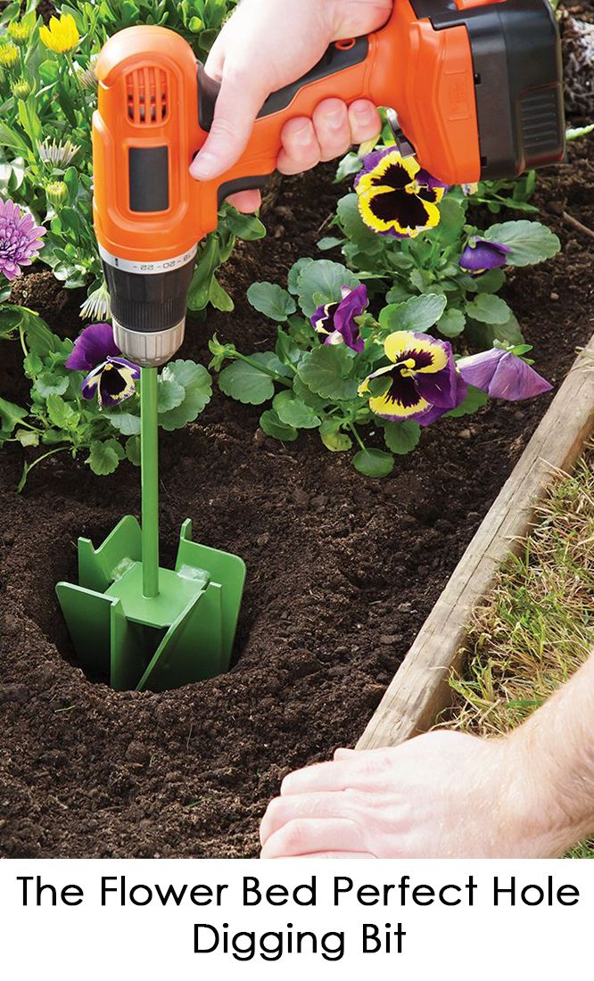 This Gardening Tool Digs Perfectly Sized Holes Using A Standard