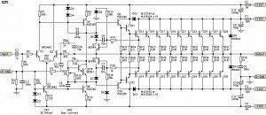 1500W power amplifier circuit diagram
