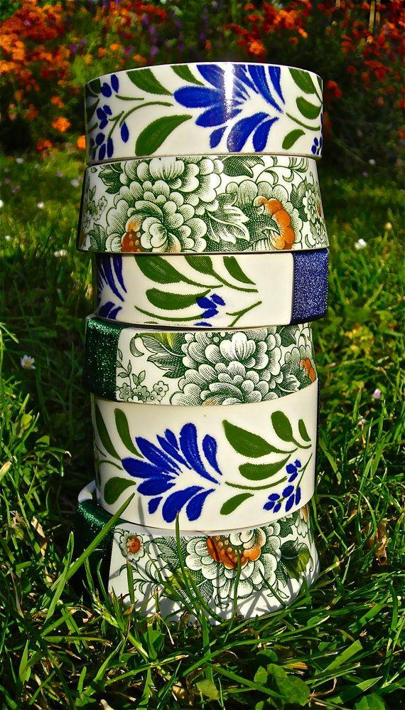 repurposed vintage teacup bracelets Individually handmade etsy  staygoldmaryrose