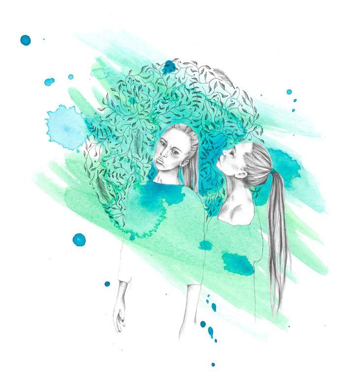 #ElementEdenArtSearch Pencil, Watercolour and Digital colouring. Jade Culton.