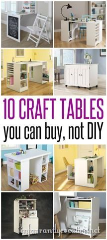 Craft Room Ideas ~ The best craft tables that you don't have to DIY