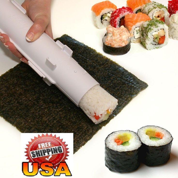 Sushi Maker Rice Kit Mold DIY Easy roll Bazooka Roller Chef Set camp 2016 gadget #Sushezi #Sushi #DIY #2016 #SushiBazooka #Roller