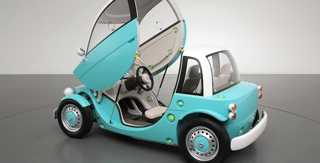 Toyota Concept Car for Kids - why not make it for adults too?! I like these Japanese micro compact designs.