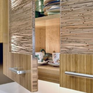 Bamboo cabinet door insert around the house pinterest for Bamboo kitchen cabinets australia