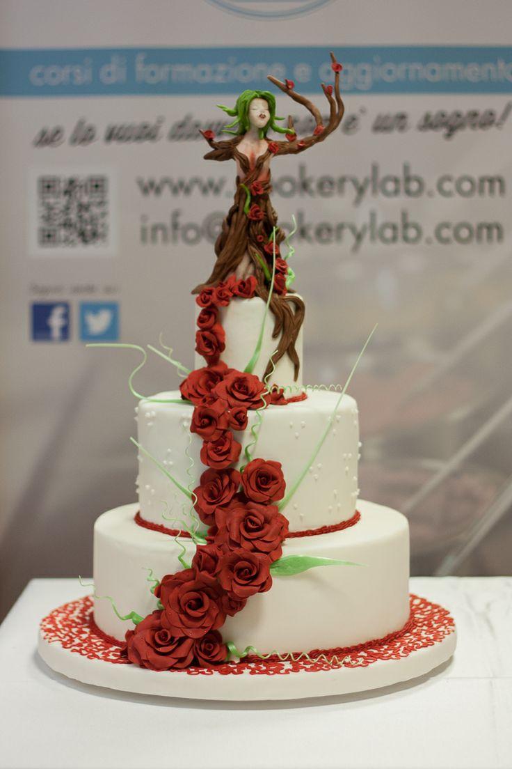 Torta di cake design a tema fantasy realizzata dagli alunni del nostro corso come progetto finale.