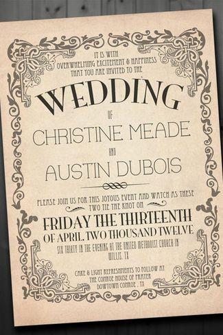 Vintage Wedding Invitations 19